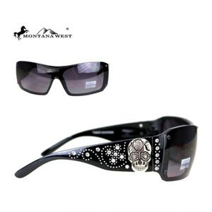 Montana West Sugar Skull Sunglasses Black